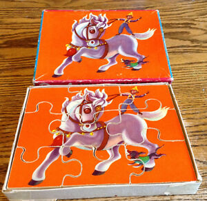 RARE VINTAGE WOODEN. 3 IN 1 ANIMAL JIGSAW PUZZLE 27 PIECES Gatineau Ottawa / Gatineau Area image 9