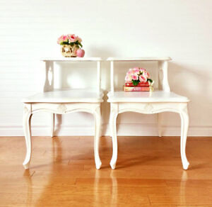 Lovely French Country End Tables