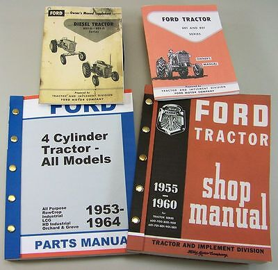 Ford 801 D Diesel Tractor Owner Operators Parts Repair Service Shop Manuals 801d
