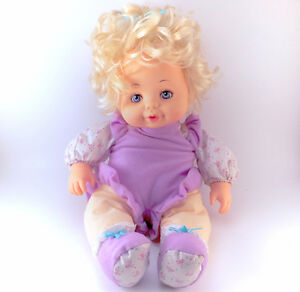 1992 Tyco Magic Feeding Baby Doll Plush Soft 1990 90s Original