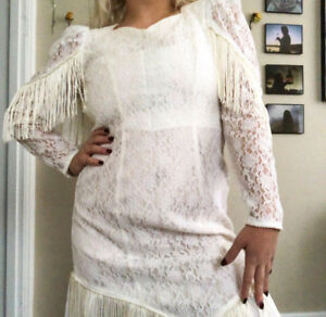 Cowgirl Wedding Dress (Excellent Condition)