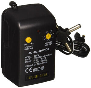 Seven Star SS104 Universal AC to DC Adapter Charger 500mA