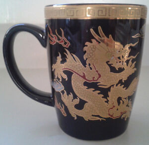 Adeline Fine Porcelain Chinese Mug with Dragons