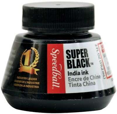 Speedball Super Black India Ink 2oz 651032033384