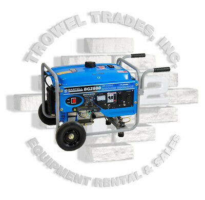 Bartell Bg2800 Generator Air Cooled Gas Powered 6.5hp Electronic Ignition