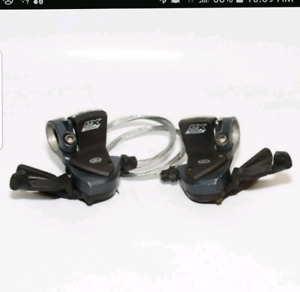 Shimano Deore LX Front and Rear Shifters - 9 speed x 3