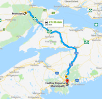 Do you need a drive or ship something between Moncton-Halifax?