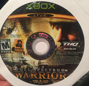 Xbox Full Spectrum Warrior & other Game