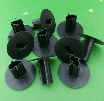 (10 PCS) Dual Feed Thru Wall Bushing w/ KNOCKOUT Coax Cable RG6 RG59 - -