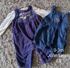 0-3m John Lewis bundle