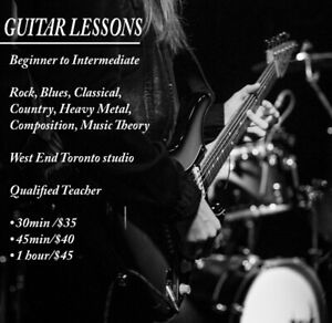 Guitar Lessons west end Toronto