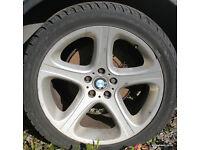"""BMW E53 X5 20"""" Alloy Wheels M Sport Style 87 9.5j 10.5 E70"""