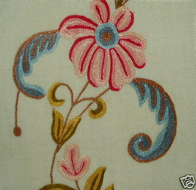 MARVIC Charis wool cotton floral embroidery new