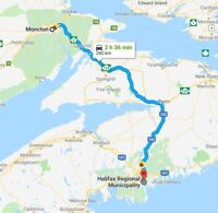 Do you need a drive or ship something between Halifax-Moncton?