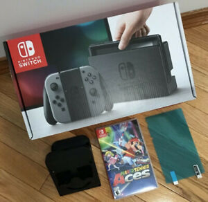 Brand New Nintendo Switch With Mario Tennis + Accessories