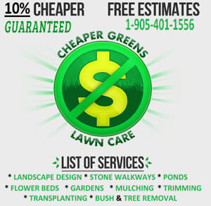 CHEAPER GREEN. LAWNS $30 & UP. YARDS STARTING $80  NOTAX