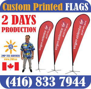 Custom Locally Printed Promotional Advertising Flags in 2 Days