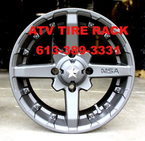 MSA Canada M23 Battle wheels rims Set of 4 ATV TIRE RACK Canada