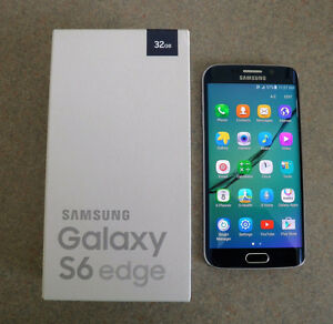 Bell Unlocked Samsung Galaxy S6 Edge 32gb Black Sapphire