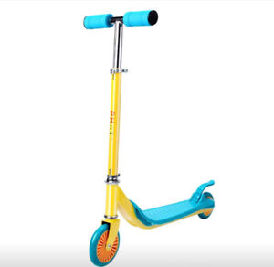 Kick Scooter Yellow/Blue New In Sealed Box