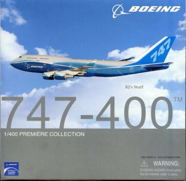RARE Boeing 747-400 1:400 Die-Cast Scale Model in the current Boeing colours #55747 fm Dragon Wings