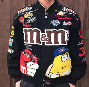 MEN'S NASCAR JACKET SIZE MEDIUM.