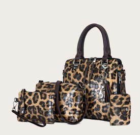 4 Piece Leopard Print Handbag Set £36 + £3.95 postage NO COLLECTION