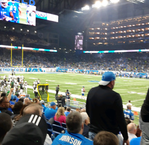 DETROIT LIONS NEW ENGLAND PATRIOTS TICKETS (5) SECT 130 ROW 11