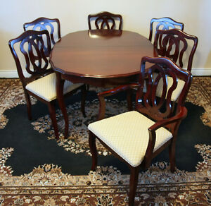 Brilliant 9 Piece Mohogany French Prov Dining Set SEE VIDEO