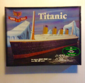 Titanic 3D Puzzle with Glow in Dark Feature by Tri Di
