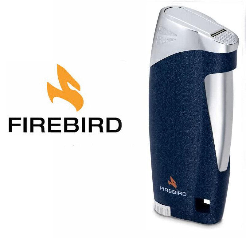 Firebird Ace Metallic Blue Cigar Lighter Butane Single Torch