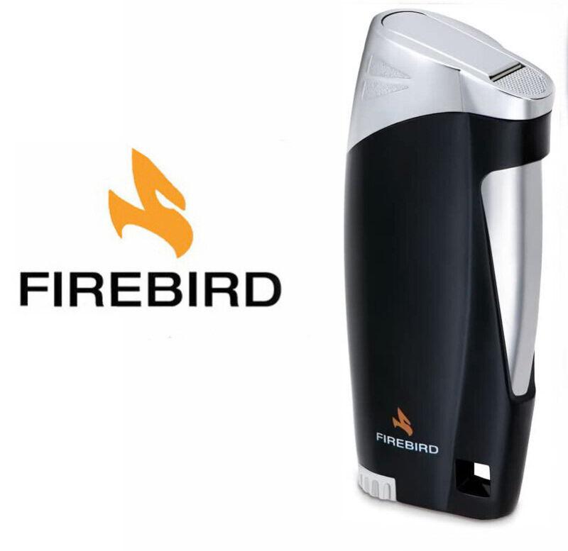Firebird Ace Matte Black Cigar Lighter Butane Single Torch Butane Colibri