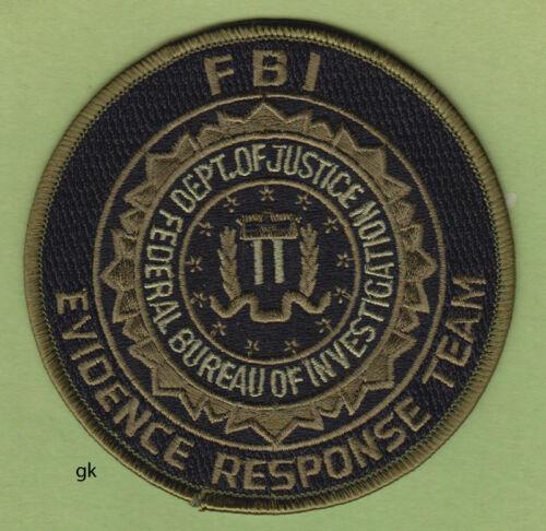 FBI EVIDENCE RESPONSE TEAM  DEPT JUSTICE POLICE SHOULDER  PATCH ROUND (SUBDUED)