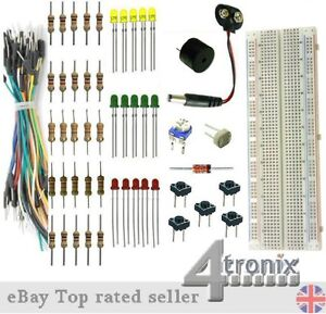 Starter-Kit-Breadboard-Jumper-Wires-LEDs-Resistors-etc-without-Arduino