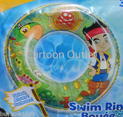 DISNEY JAKE AND THE NEVER LAND PIRATES SWIM RING POOL TOY INFLATABLE TOY KIDS