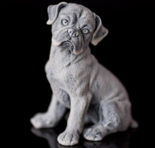 Boxer Marble Figurine, Animal Miniature Realistic Dog Sculpture