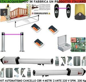 AUTOMATISMO-CANCELLO-4-MT-2-ANTE-KIT-CBR-220-V-2-FOTO-2-RADIOC-FARO-2-PALI-SELET