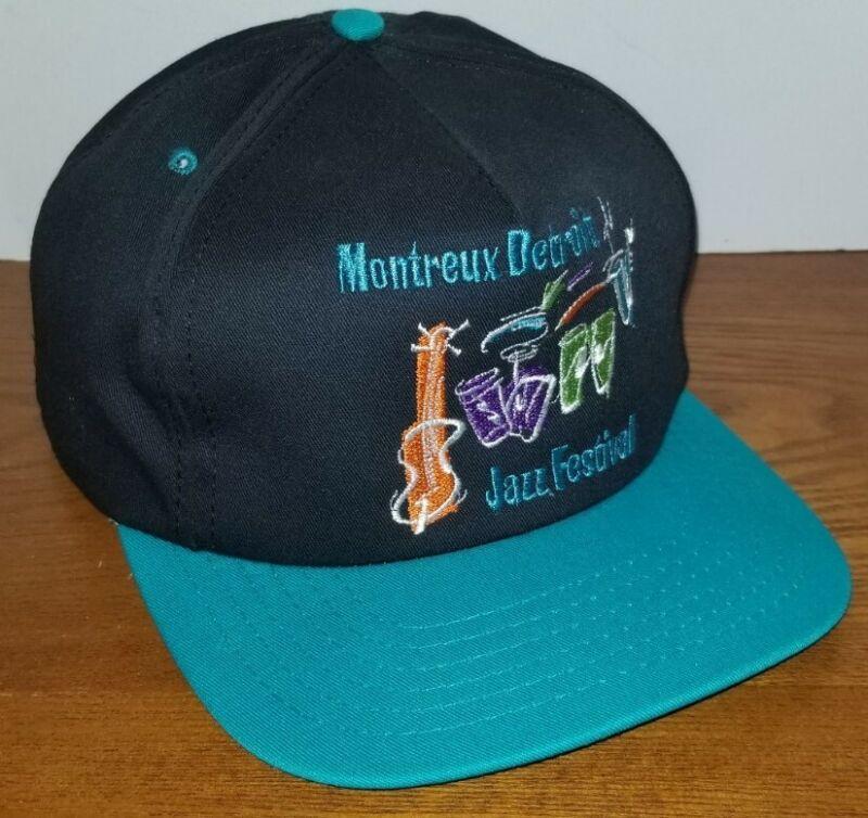 🔥New Montreux Detroit Jazz Festival Snapback Cap Hat RARE🔥1980