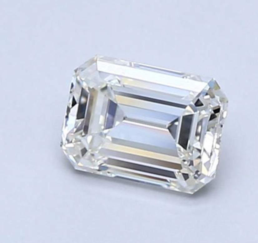 Diamond 0.46 CT Natural Loose Emerald Cut E Color VS2 Clarity GIA Certified
