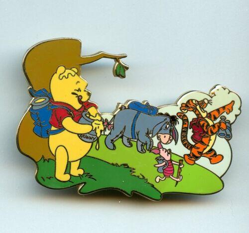 Disney Auctions Summer Series Winnie the Pooh Eeyore Piglet Tigger LE 100 Pin