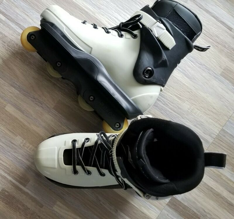 CUSTOM Razors aggressive inline skates cult2 Sz 12 ROCES FRAMES, USD Soulplates