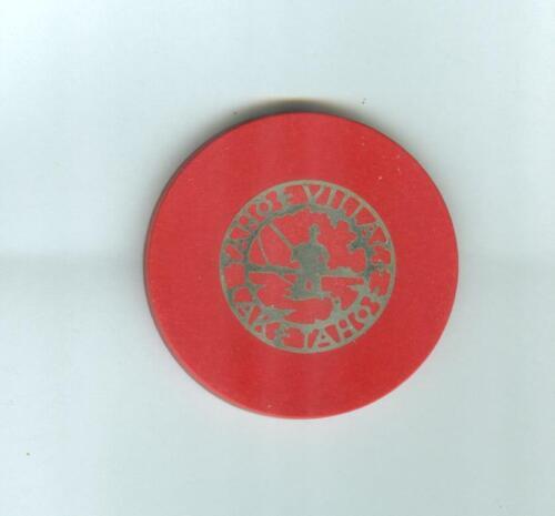 TAHOE VILLAGE  CASINO  POKER  CHIP--DIECUT ROULETTE