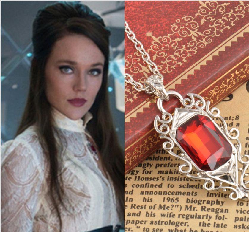 Lightwood's Ruby Retro The Mortal Instruments City of Bones Isabelle Necklace ne