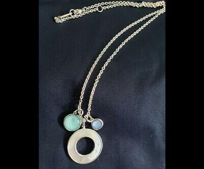 IPPOLITA Wonderland Sterling Silver Shell Circle and Stone Pendant $595, New!