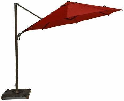11-Ft Octagon Cantilever Offset Patio Umbrella W/ Cross Base and Umbrella Cover