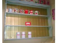 Painted dresser top shelf (pine shabby chic)