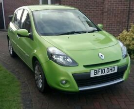 Renault Clio 1.5 dci Tom Tom, 5 door, sat nav, A/C low milage, good condition 12 month MOT