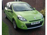 Renault Clio 1.5 dci Tom Tom, 5 door, sat nav, A/C low milage, good condition 12 month MOT