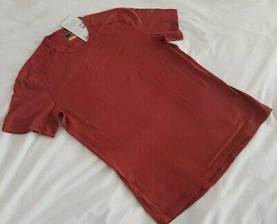 MEN'S ICEBREAKER Oasis SS MERINO T SHIRT in Vintage Red. Large. RRP £60