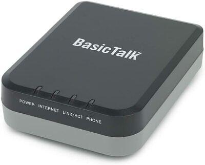 BasicTalk HT701 Home Phone Service VoIP Internet Basic Talk Box w/Adapter